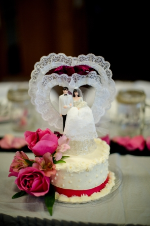 Cake topper courtesy Amy Cloutier Photography
