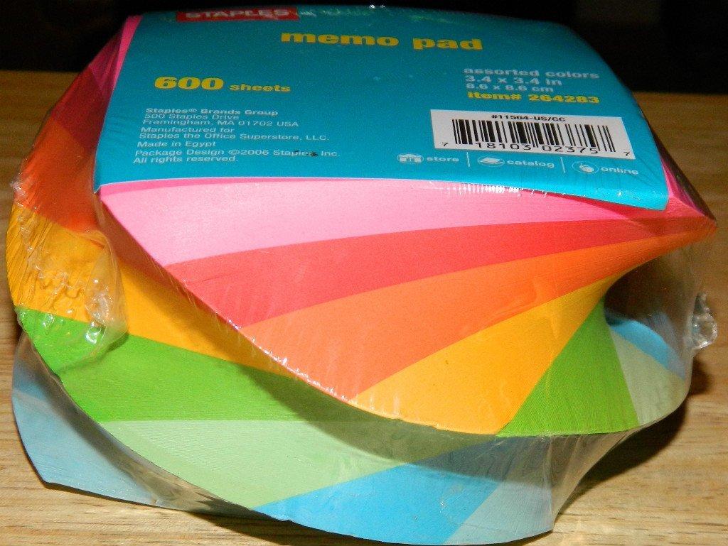 Rainbow memo pad